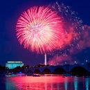 Fireworks Going Off Over Washington, DC