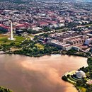 Aerial skyline view of Washington, DC