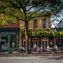 King Street in Old Town Alexandria - Historic waterfront destination in Virginia near Washington, DC