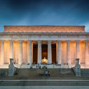@pixels.sh - Lincoln Memorial on the National Mall at night - Memorials in Washington, DC