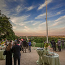 Green and sustainable catering companies in the Washington, DC metro area - Geppetto Catering event overlooking the DC skyline