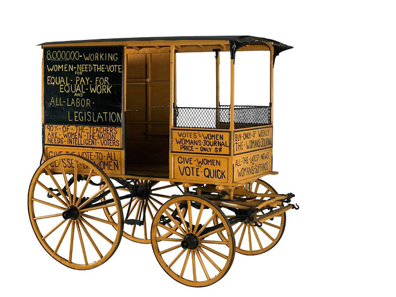 Woman suffrage wagon from Smithsonian National Museum of American History