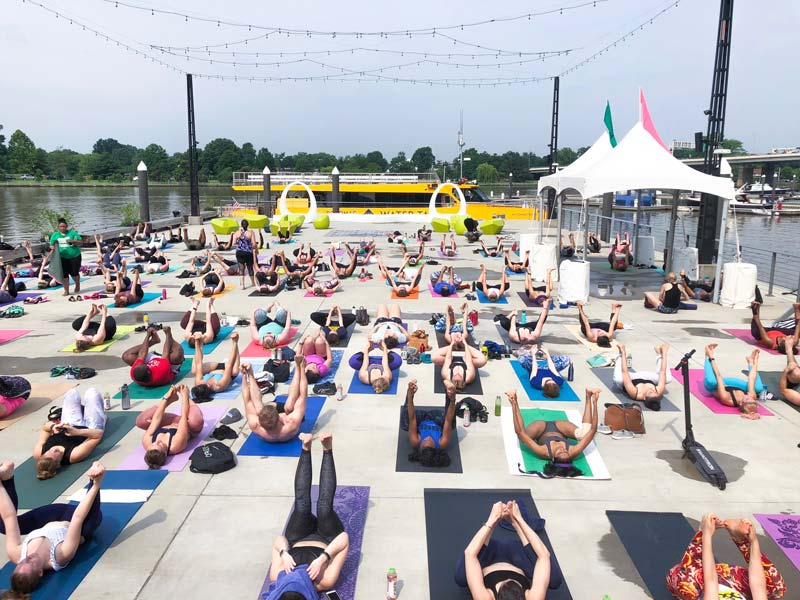 @amandaeisner - Free summer yoga classes at The Wharf on the Southwest Waterfront - Free things to do in Washington, DC