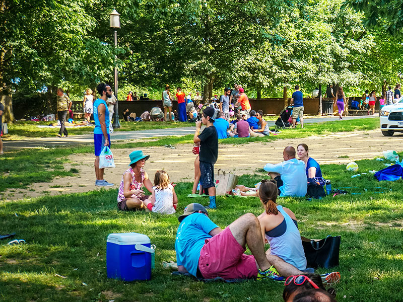 Picnic at Meridian Hill Park - Public parks and gardens in Washington, DC
