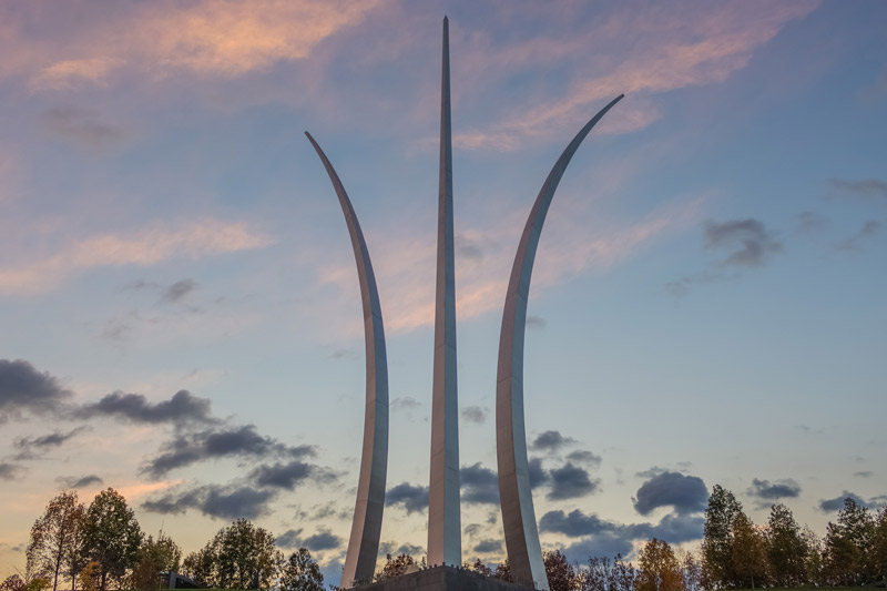 Sunset at the U.S. Air Force Memorial - Attractions Near Washington, DC