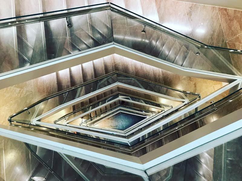 @tatimrqs - Tower stairs at National Gallery of Art East Building - Free museum on the National Mall