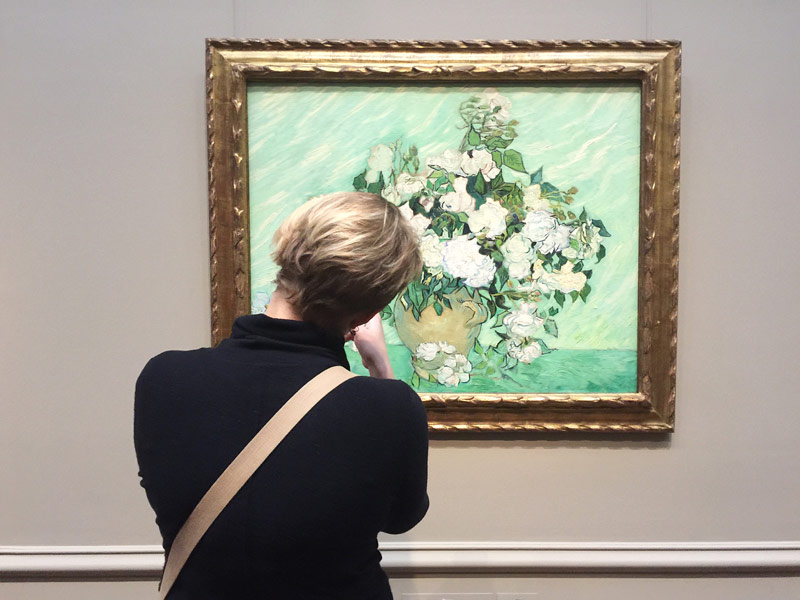 @thatdunlopgirl - Visitor viewing Van Gogh painting at National Gallery of Art - Free art museum in Washington, DC
