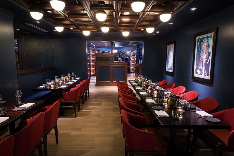 Intimate dining space at the Siren by Robert Widemaier restaurant - Private dining space for smaller groups in Washington, DC