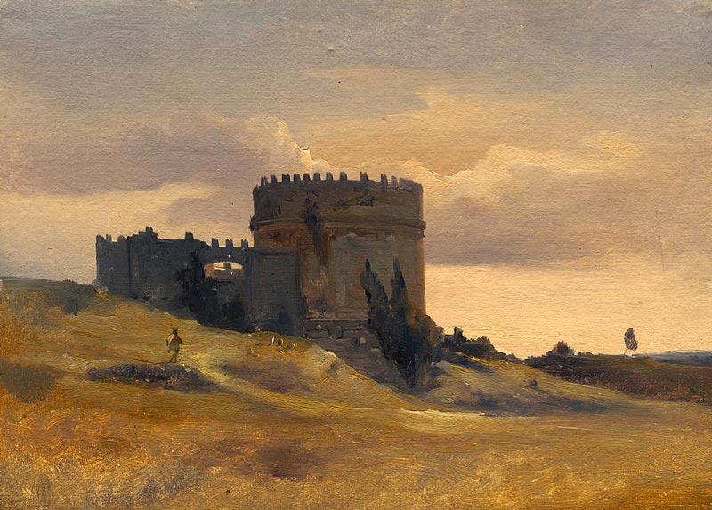 'The Tomb of Caecilia Metella' by Francois Antoine Leon Fleury