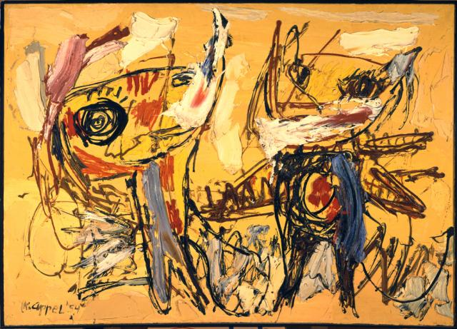 The Desert Dancers, Karel Appel (1954)