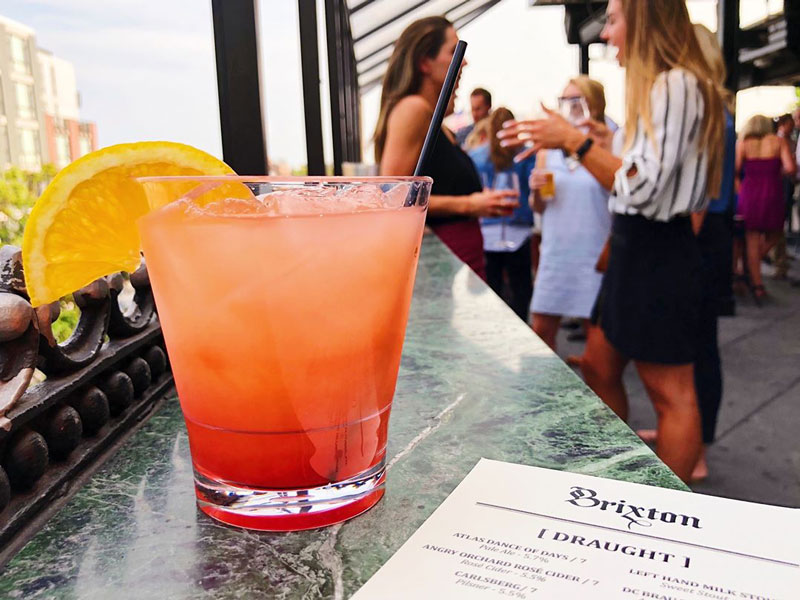@thebrixtondc - Drinks on The Brixton rooftop on U Street - DC's best rooftop bars
