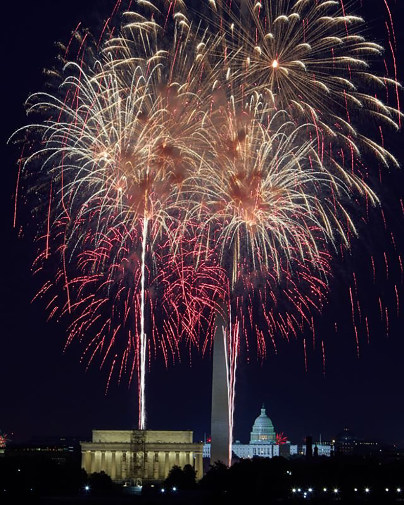 Fireworks in Washington, DC