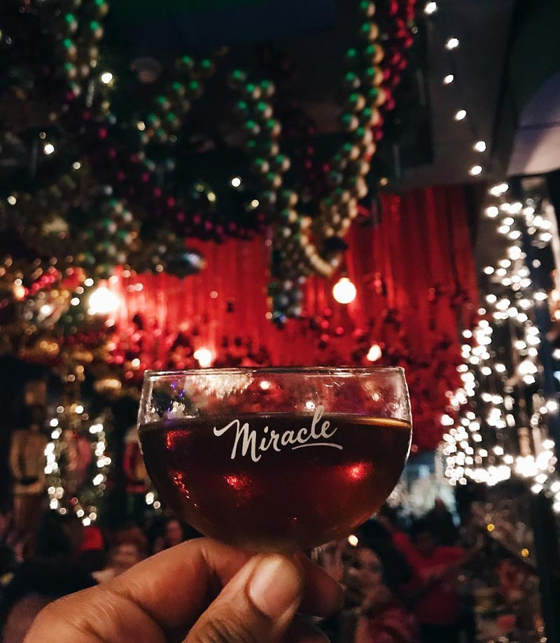 @thetheorobinson - Cocktail at the Miracle on 7th Street Christmas and Holiday Bar - Holiday Events and Things to Do in Washington, DC