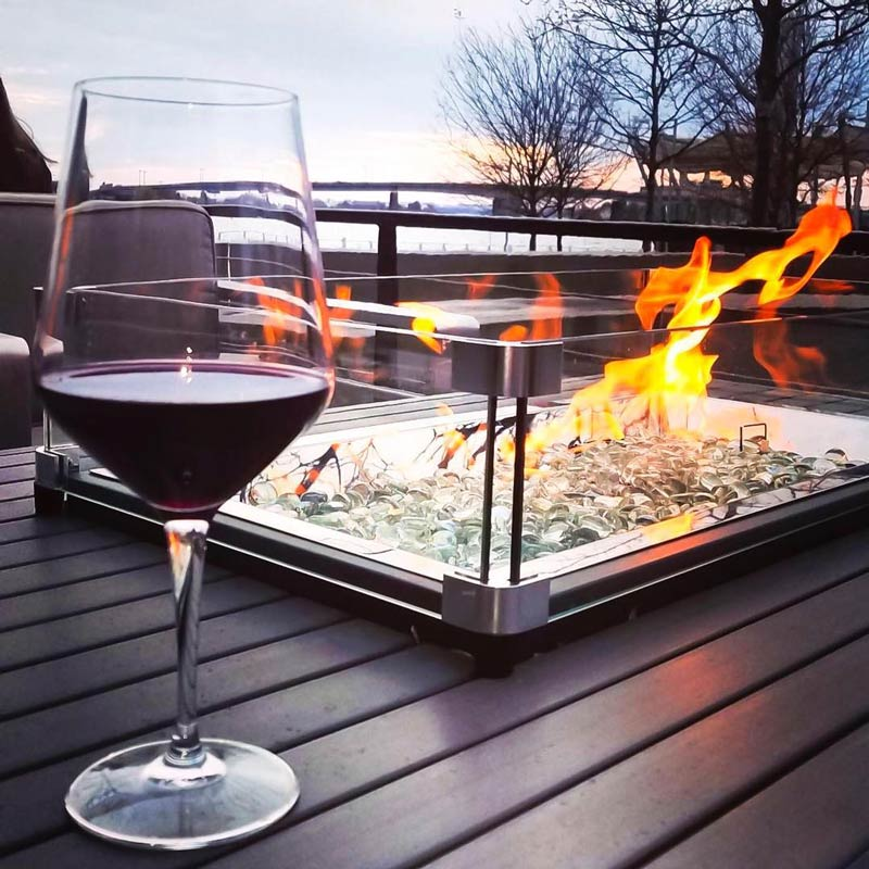 @marimar79 - Outdoor fire pit at Ana at District Winery - Cozy restaurants with fires in Washington, DC
