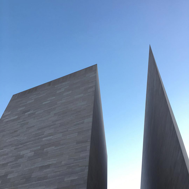 @thishustle - Exterior of National Gallery of Art East Building on the National Mall - Free museum in Washington, DC