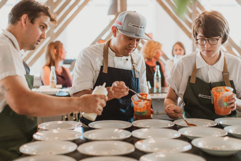 Chefs cooking for ChefsFeed Indie Week - Culinary events in Washington, DC