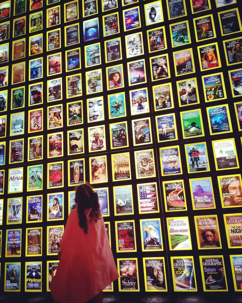 @tinyhumansofdc - Child at National Geographic Museum in Dupont Circle - Museum Off the National Mall in Washington, DC
