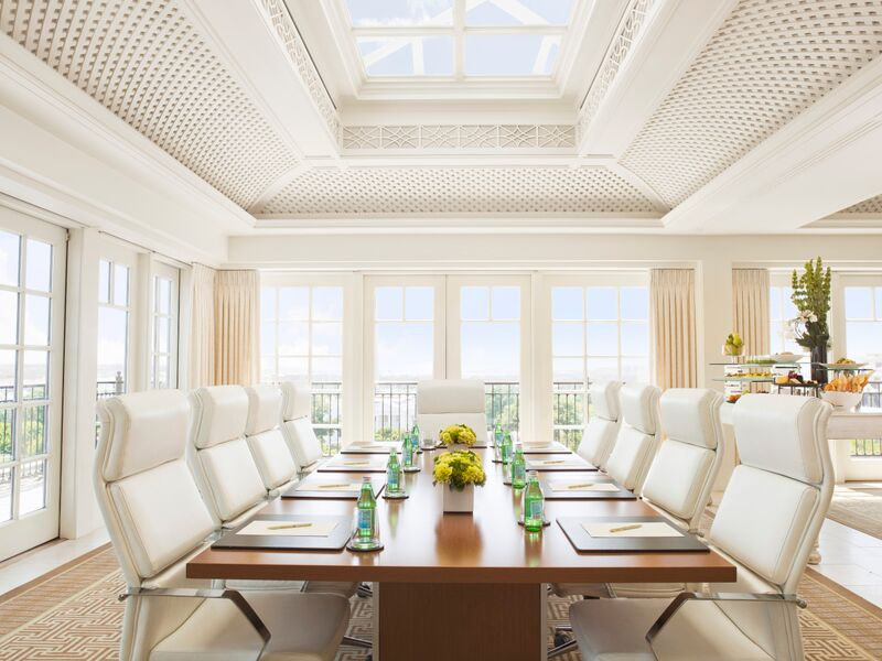 Boardroom at Top of the Hay at The Hay-Adams hotel - Meeting space with natural light in Washington, DC
