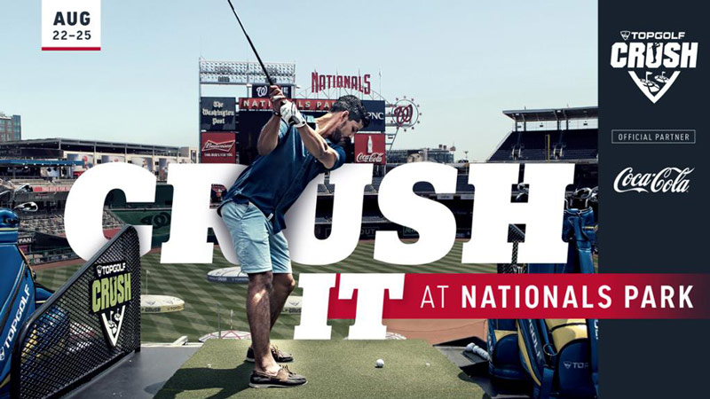 Topgolf CRUSH at Nationals Park - Things to do this summer in Washington, DC