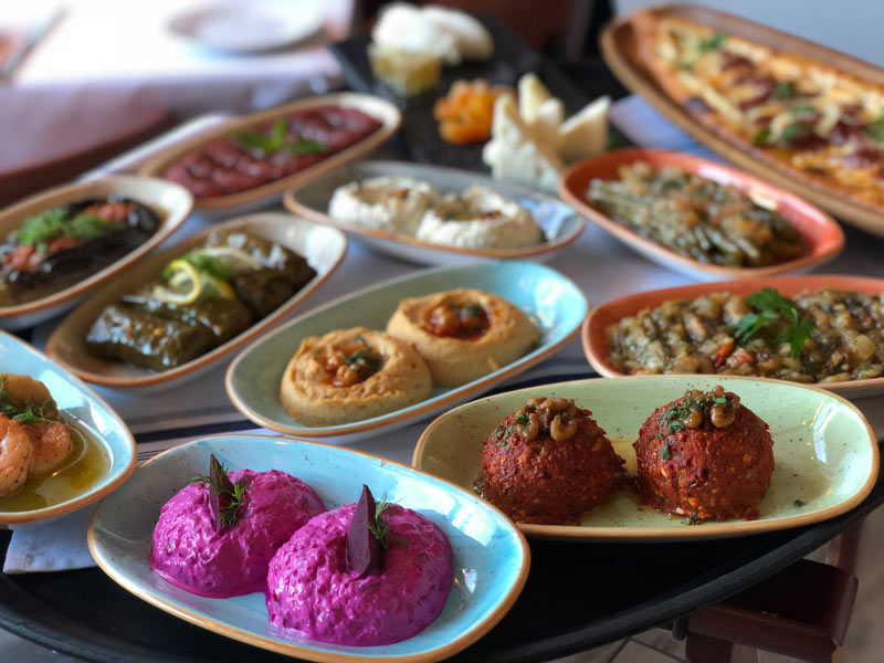 Turkish dishes from Ottoman Taverna - Restaurant in DC's Mount Vernon Square neighborhood