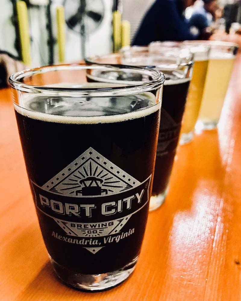 @vanessatdiaz - Beers from Port City Brewing Company in Virginia - Local craft brewery near Washington, DC