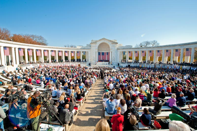 Veterans Day Ceremony at Arlington National Cemetery - Honoring Veterans Near Washington, DC