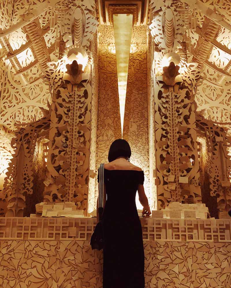 @vickyrotta - Temple at the Renwick Gallery's Burning Man Exhibit - Free Smithsonian Museum in Washington, DC
