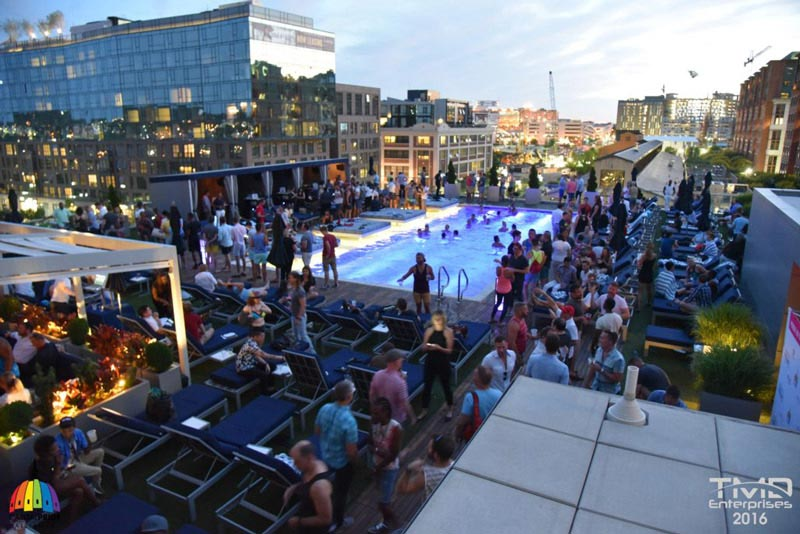 Capital Pride Events in Washington, DC - VIDA Rooftop Pool Party on the Capitol RIverfront