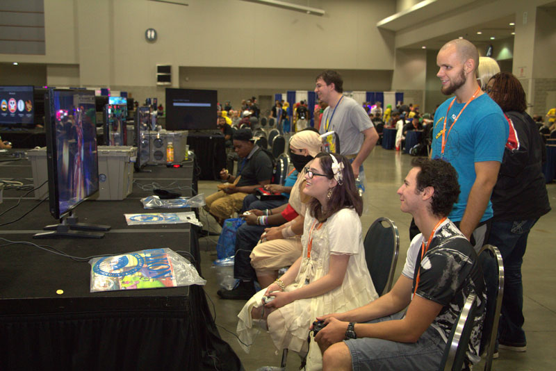 Video game tournament at Otakon in the Walter E. Washington Convention Center - Anime and cosplay festival in Washington, DC