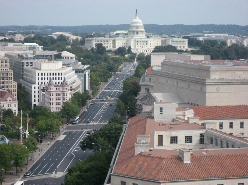 View of United States Capitol and Pennsylvania Avenue from Old Post Office Building Clock Tower - The Best Views in Washington, DC