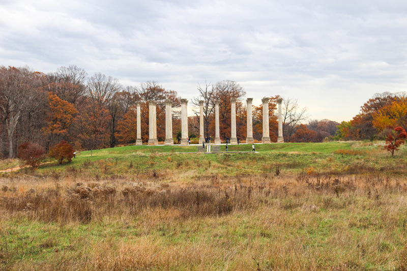 National Arboretum National Capitol Columns in early winter - Free things to do in Washington, DC