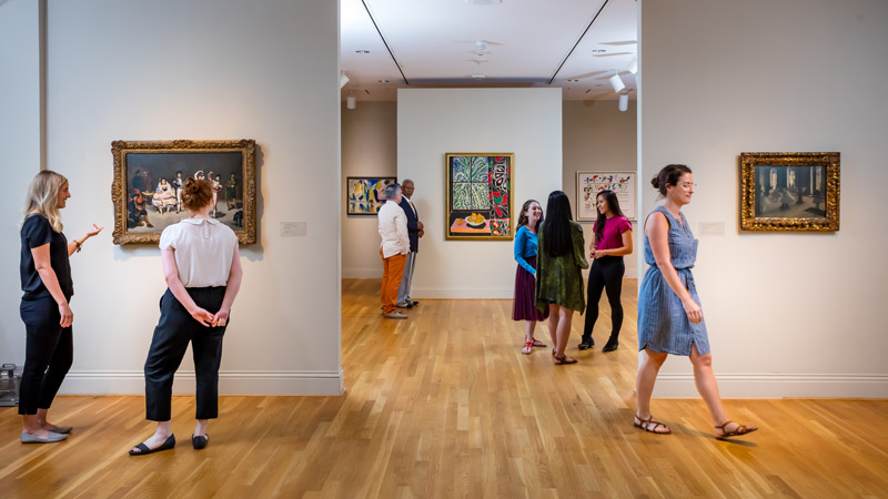 Guests in The Phillips Collection in Dupont Circle - Cool museums off the National Mall in Washington, DC