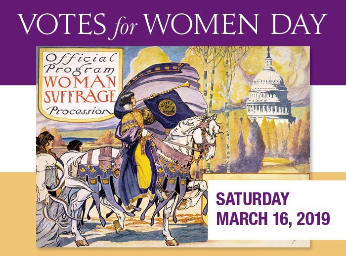Votes for Women Day event at the U.S. Capitol Visitor Center - Free events celebrating Women's History Month in Washington, DC