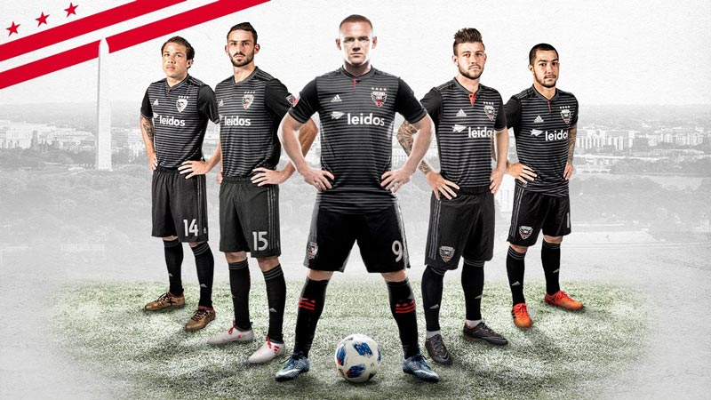 Wayne Rooney and DC United teammates - Major League Soccer at Audi Field in Washington, DC