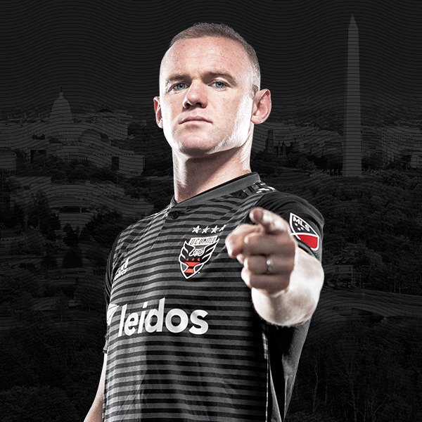 Wayne Rooney in DC United uniform - MLS soccer star in Washington, DC