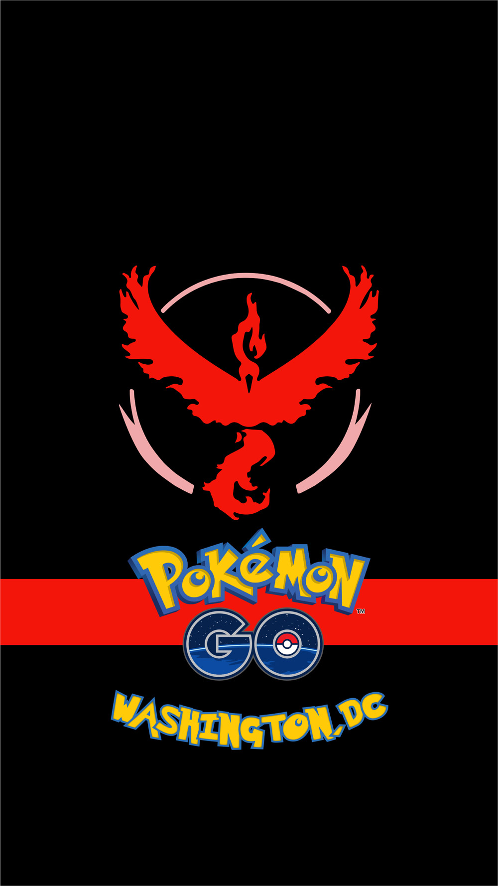 Team Valor Red IPhone Background