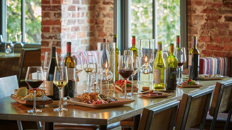 Wine and food at ENO Wine Bar in Georgetown - Romantic date idea in Washington, DC