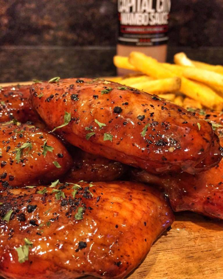Wings with mambo sauce from Capital City Co. - Washington, DC's signature dishes