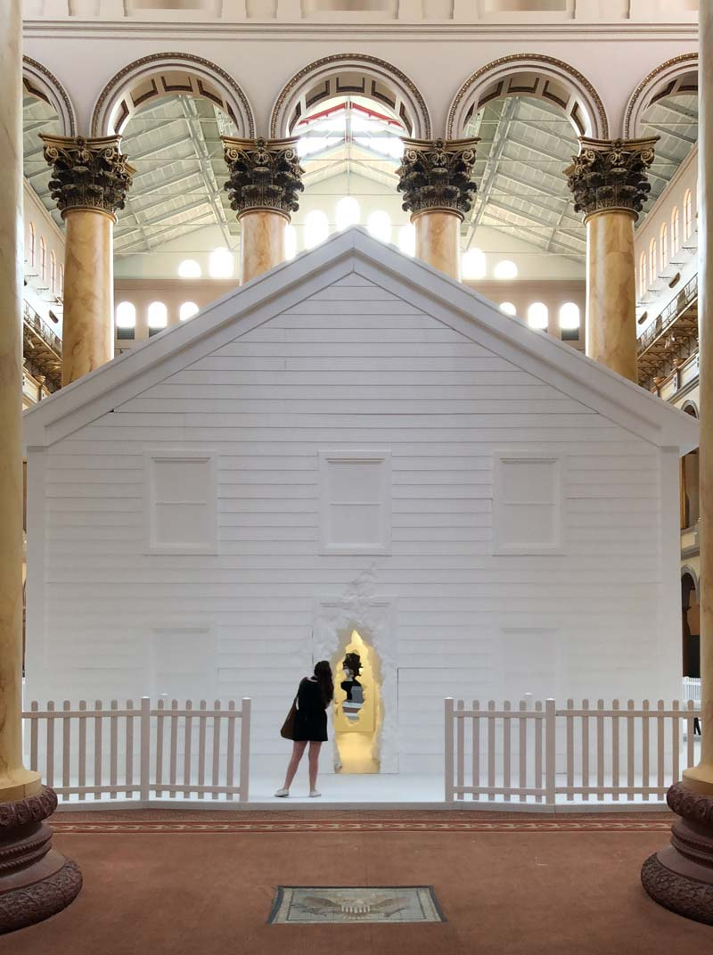 The National Building Museum's Summer Block Party interactive exhibit - Kid-friendly museum attractions in Washington, DC