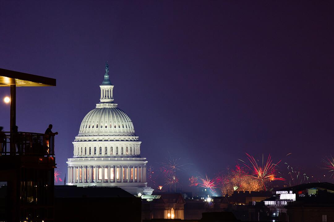 @zackowicz - Fourth of July fireworks over Washington, DC as seen from a rooftop near the United States Capitol - Fireworks in Washington, DC