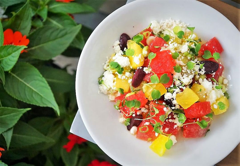 @zaytinya - Watermelon Mediterranean salad at Zaytinya - José Andrés restaurant in Washington, DC