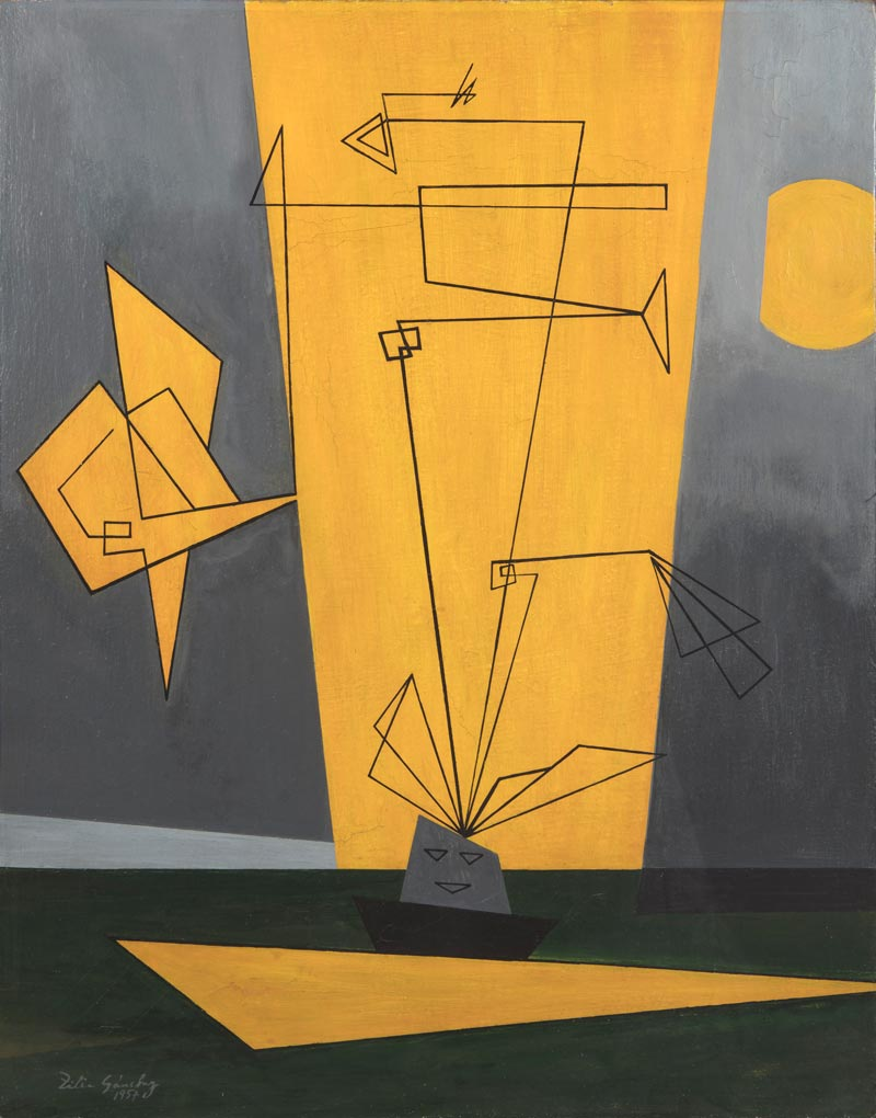 Zilia Sánchez, Afrocubano, 1957. Oil on canvas, 27 1/2 × 21 1/2 in., Private collection, Madrid3