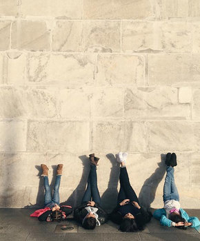 @dianitaxoc - Kids by the Washington Monument on the National Mall - Monuments in Washington, DC