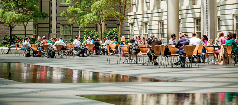 Revel in the beauty of the Kogod Courtyard in Penn Quarter